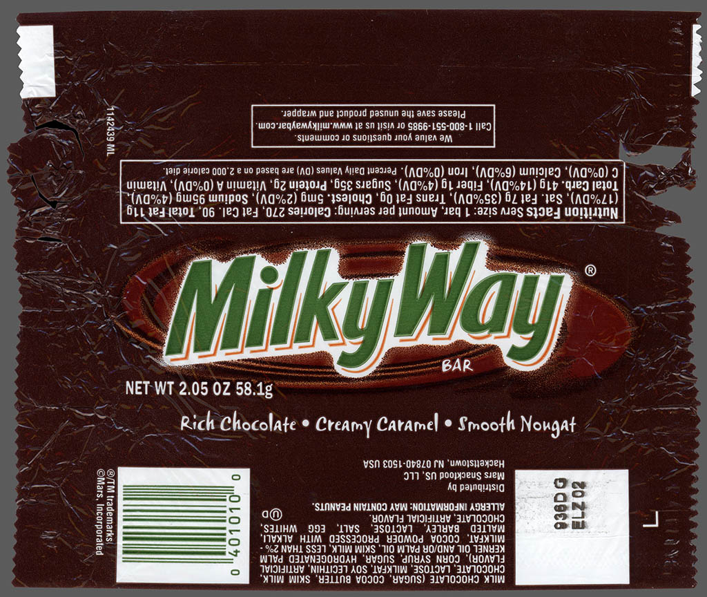 Mars - Milky Way chocolate candy bar wrapper - 2011