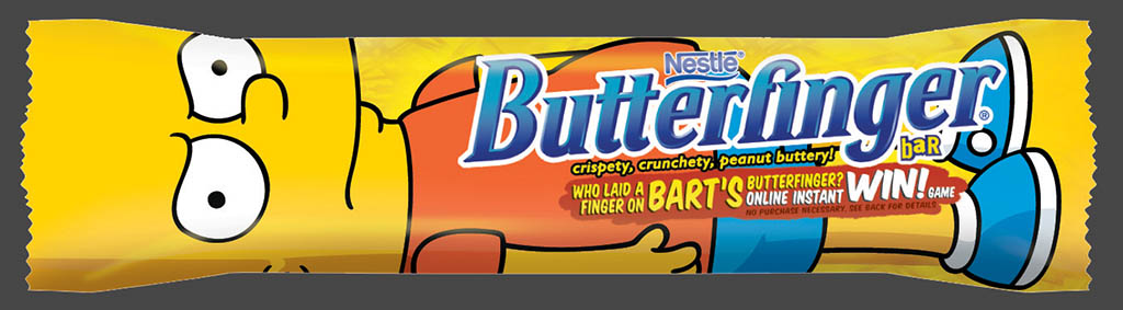 Nestle - Butterfinger 90ish Anniversary - Bart Simpson Anniversary wrappers preview 1