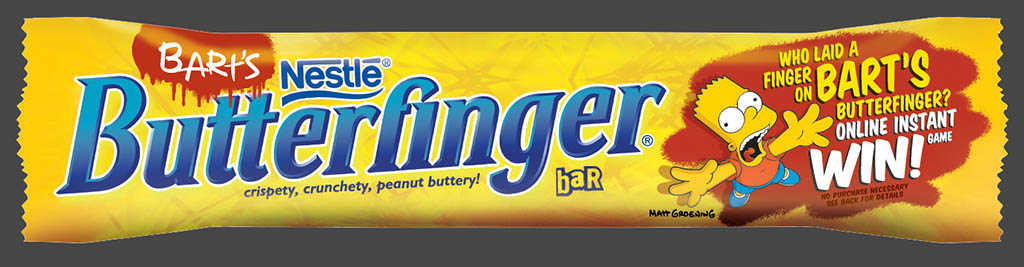 Nestle - Butterfinger 90ish Anniversary - Bart Simpson Anniversary wrappers preview 2