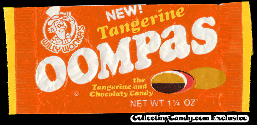Willy Wonka Tangerine Oompas April Fool's Day candy packageD