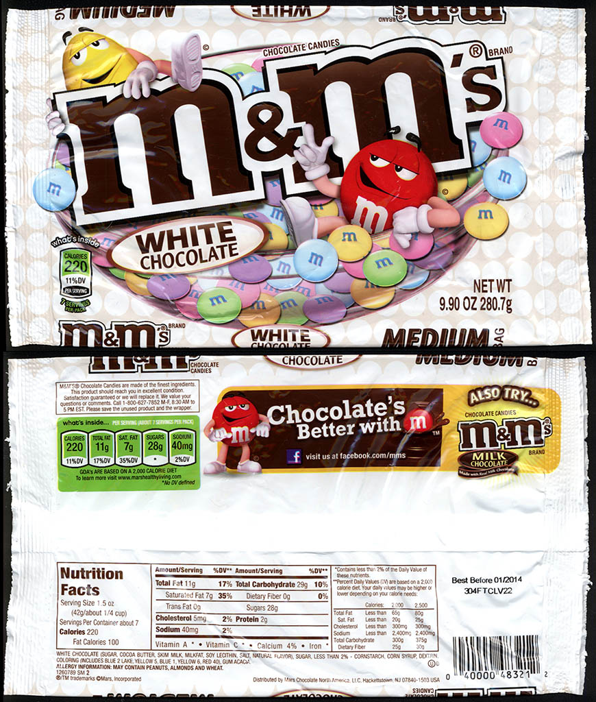 Mars - M&M's White Chocolate - 9.9 oz Easter candy package - Target - March 2013