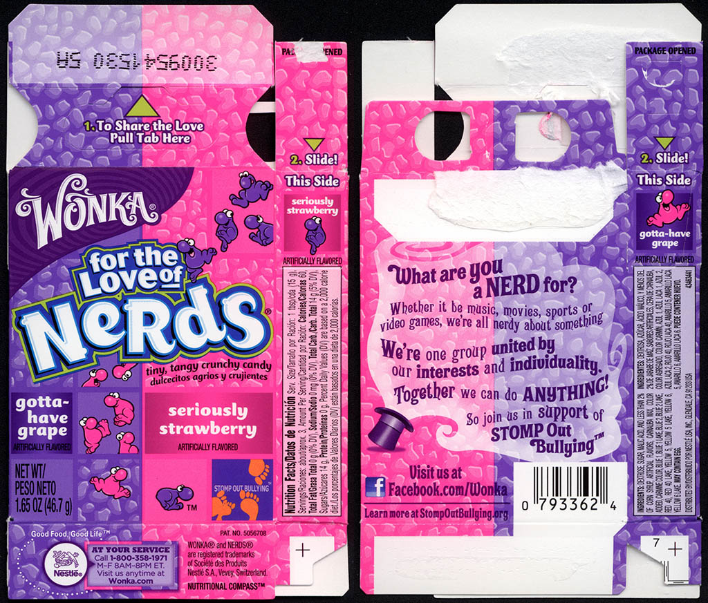 Nestle - Wonka - Nerds - Seriously Strawberry & Gotta-Have Grape - candy box - May 2013