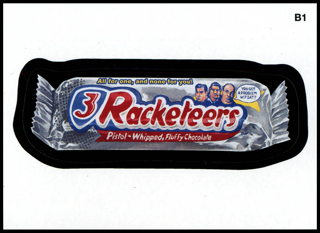 Wacky Packages ANS10 - 3 Racketeers - 2013
