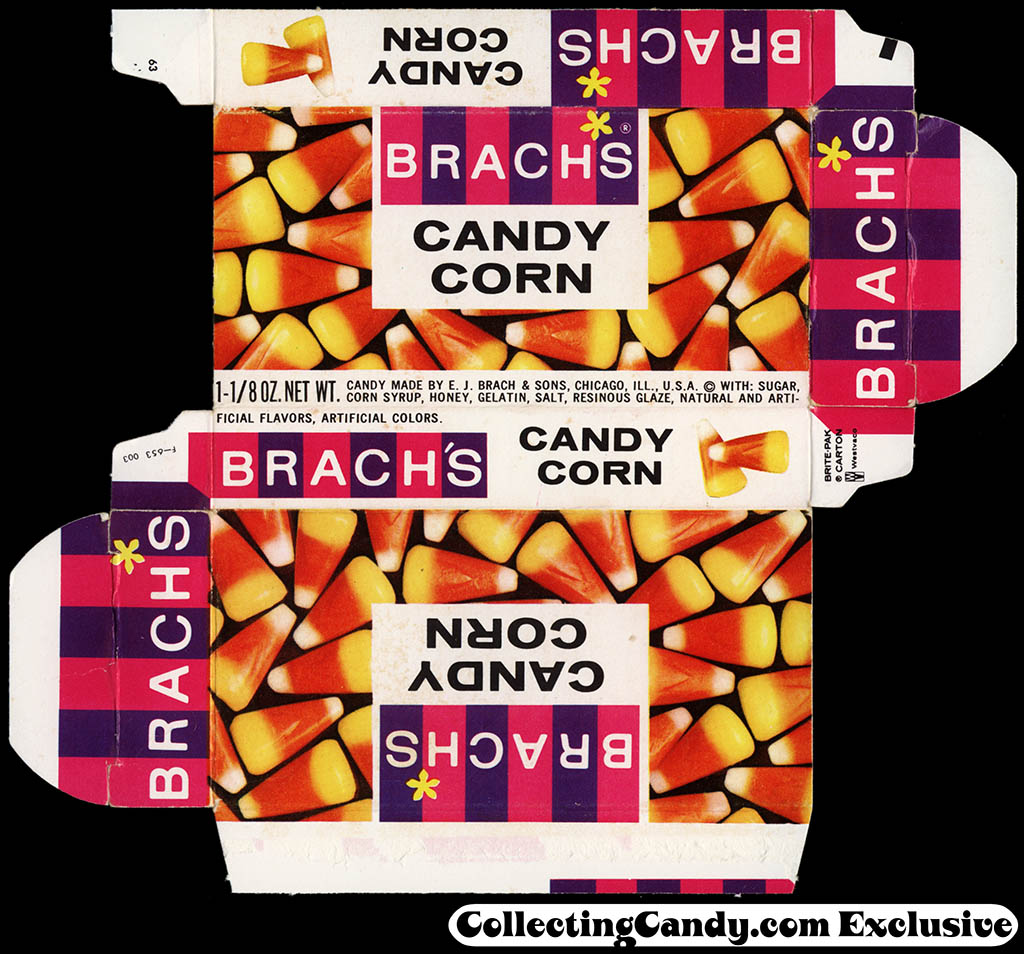 Brach's - Candy Corn 1 1/8 oz candy box - 1964