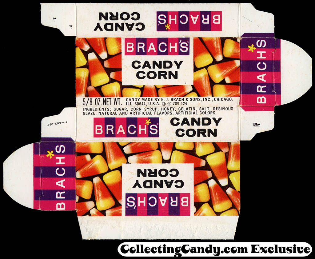 Brach's - Candy Corn 5/8 oz candy box - 1960's to early 1970's