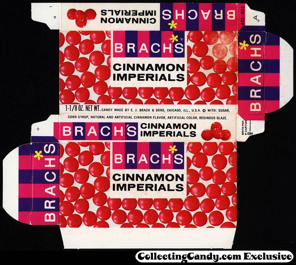 CC_Brach's - Cinnamon Imperials 1 1/8 oz candy box - 1964