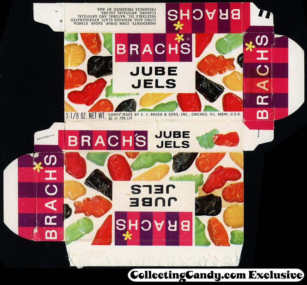Brach's - Jube Jels 1 1/8 oz candy box - late 1960's