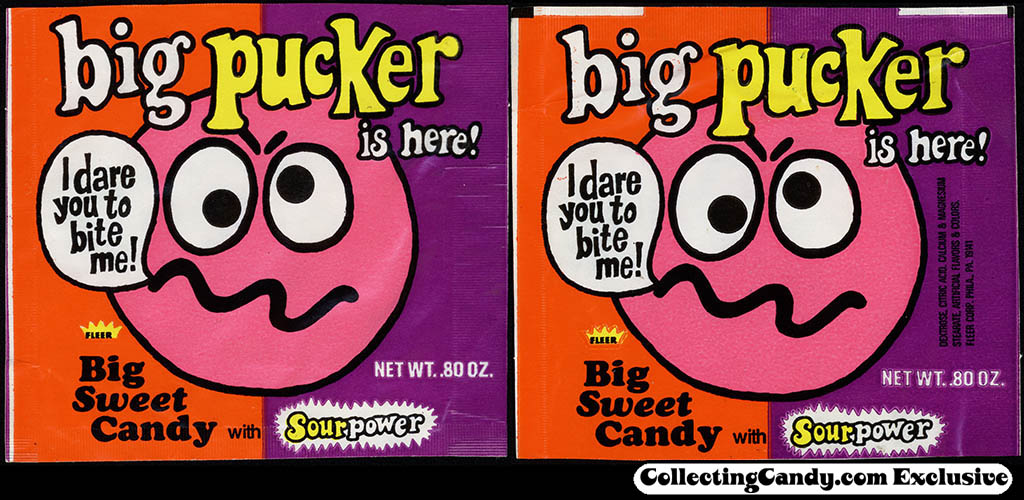 Fleer - Big Pucker - candy package - mid-1970's