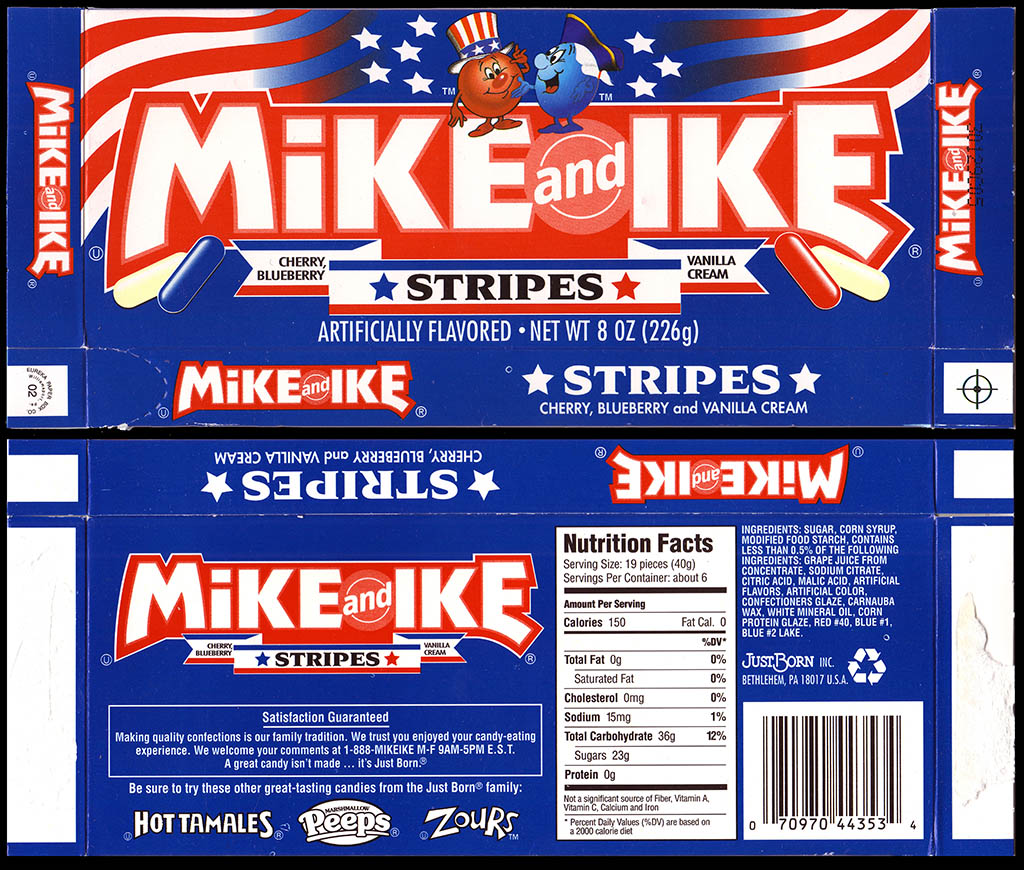 JustBorn - Mike and Ike Featured Flavor Stripes - 2003