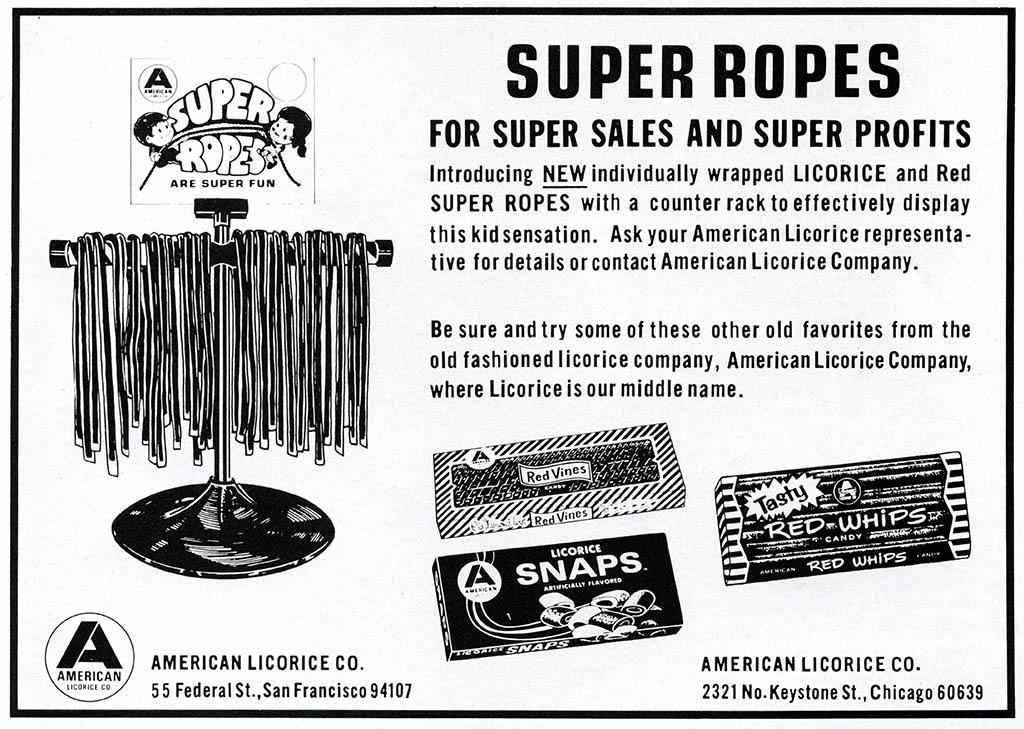 American Licorice Company - candy trade magazine ad - March 1977