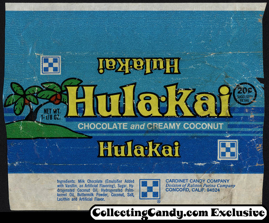 Ralston Purina - Cardinet Candy Company - Hula-Kai - 20-cent candy bar wrapper - mid-1970's