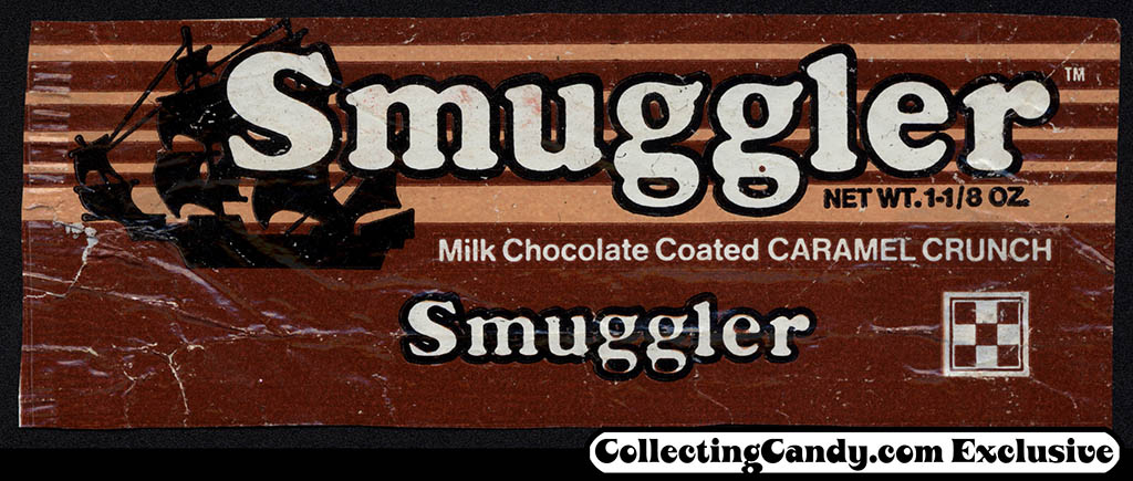 Ralston Purina - Cardinet Candy Company - Smuggler -  trimmed candy bar wrapper - mid-1970's