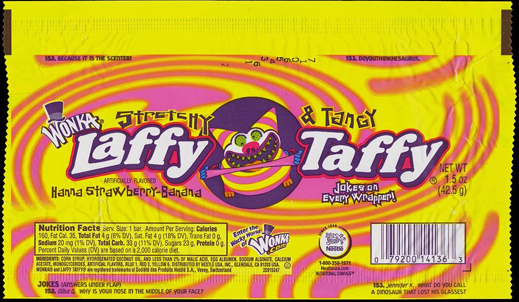 Wonka Laffy Taffy - Hanna Strawberry-Banana - 2007