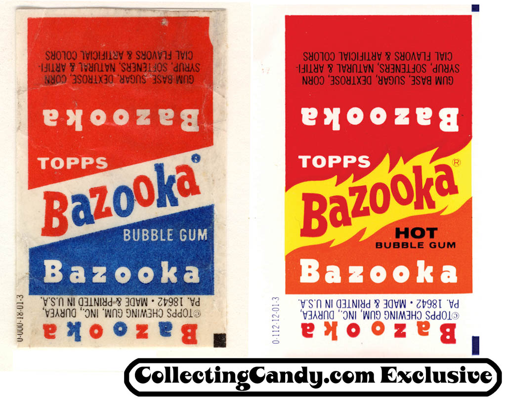 1973-74 Bazooka regular and Bazooka Hot comparison.