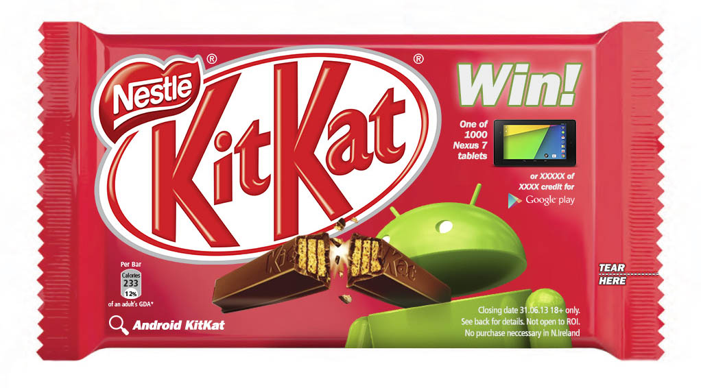 Android-branded Nestle Kit Kat bar!