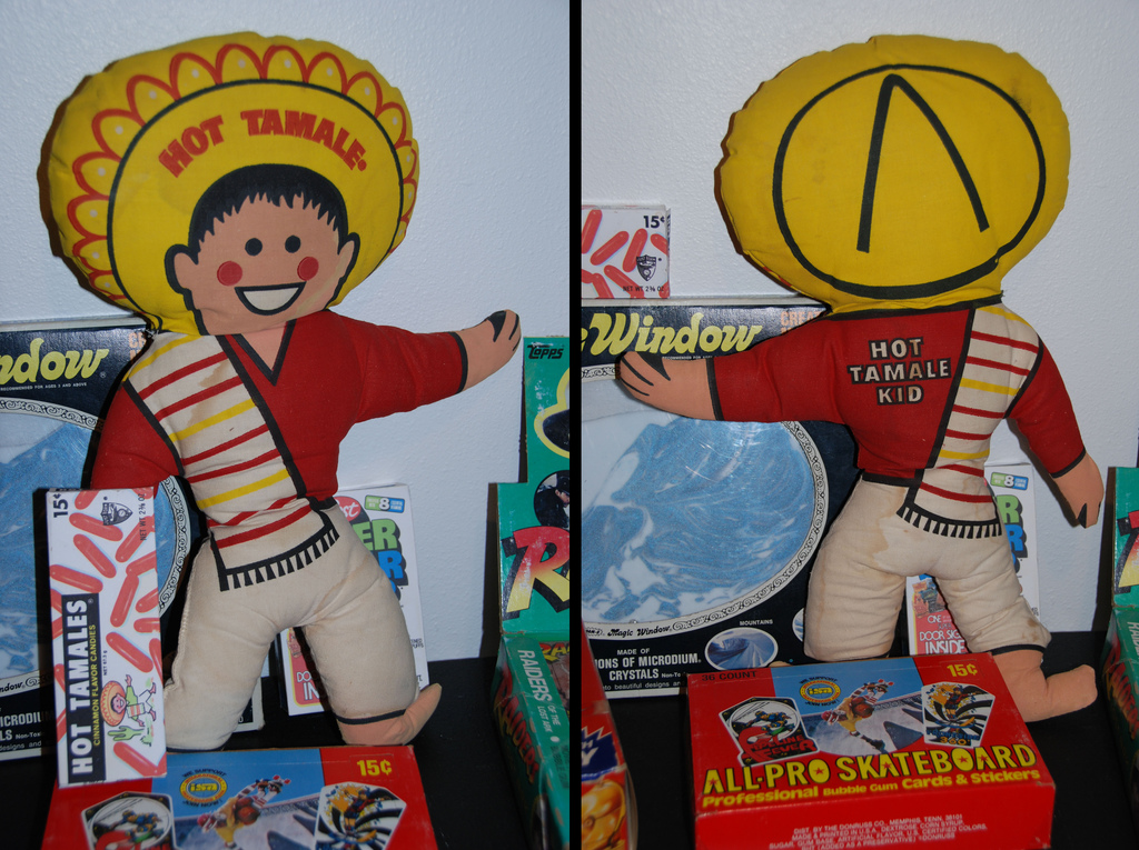 Hot Tamales Kid Just Born mail-away doll - Front and Back - 1970's