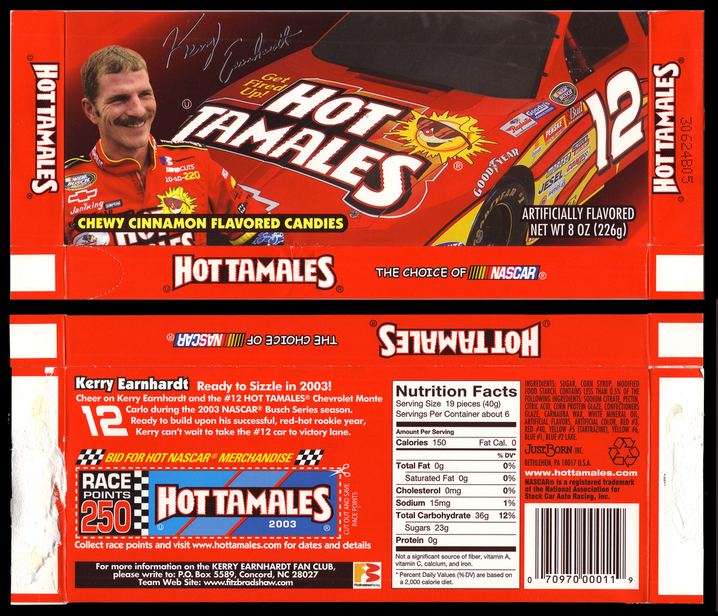 JustBorn - Hot Tamales Kerry Earnhardt limited edition box - 2003