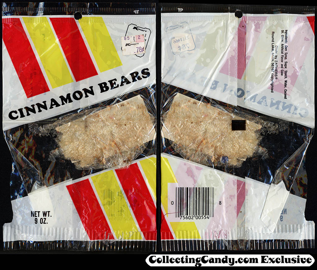 K-Mart - Sathers - Cinnamon Bears - 9 oz candy package - 1980's