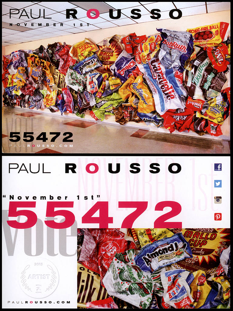 Paul Rousso 2013 ArtPrize promotional postcard