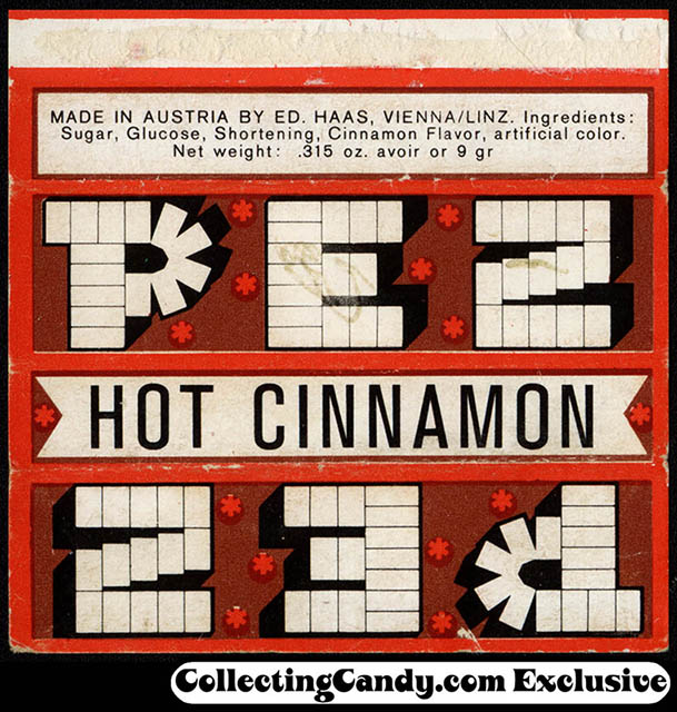 Pez - Hot Cinnamon candy wrapper - early 1960's