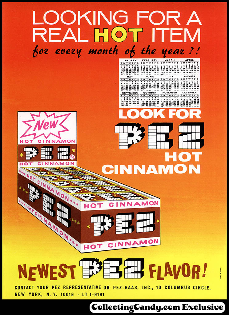 Pez - Hot Cinnamon - promotional sales flyer - early 1960's