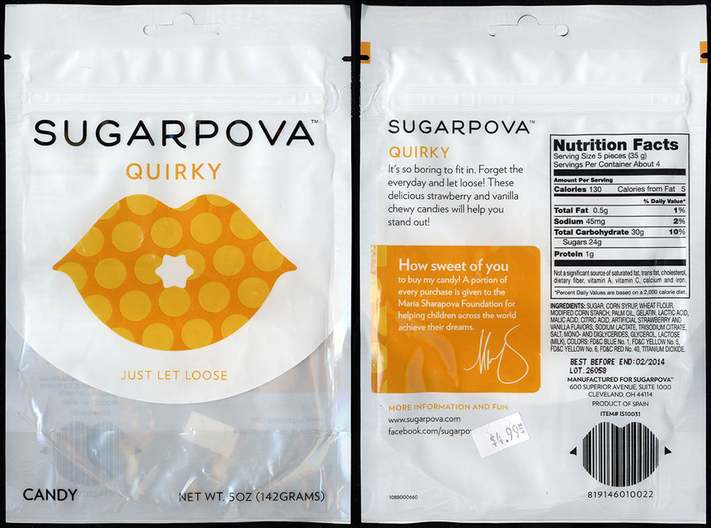 Sugarpova - Quirky - candy package - 2013