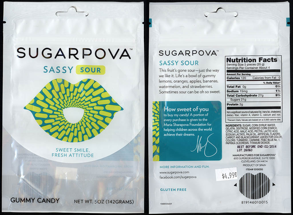 Sugarpova - Sassy Sour - gummy candy package - 2013