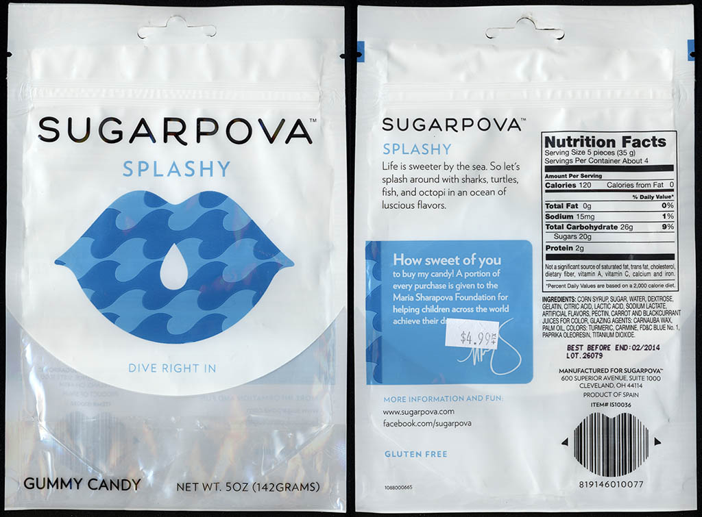 Sugarpova - Splashy - gummy candy package - 2013