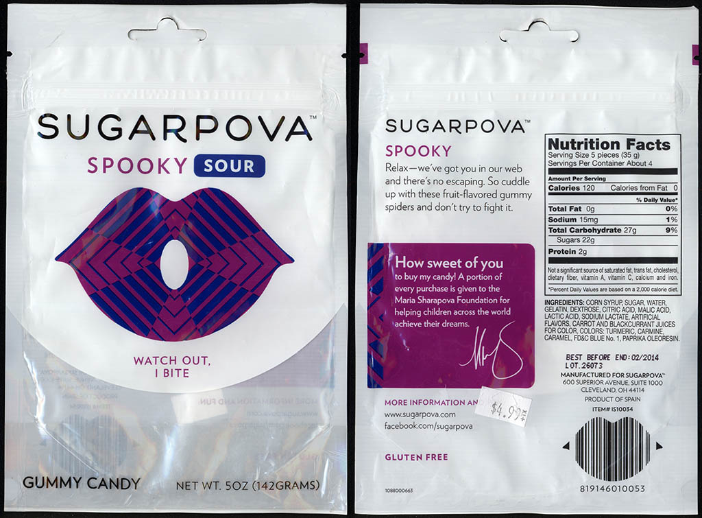 Sugarpova - Spooky Sour - gummy candy package - 2013