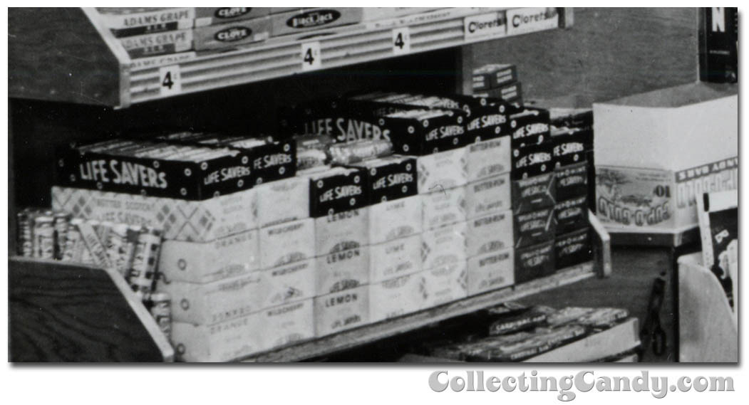 1953 Halloween Grocery picture - Lifesavers and Cup-O-Gold close-up