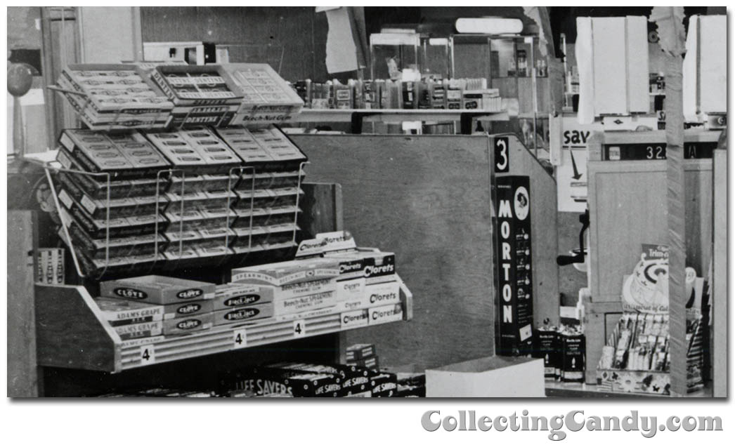 1953 Halloween Grocery picture - Wrigley Gum and Morton Salt close-up