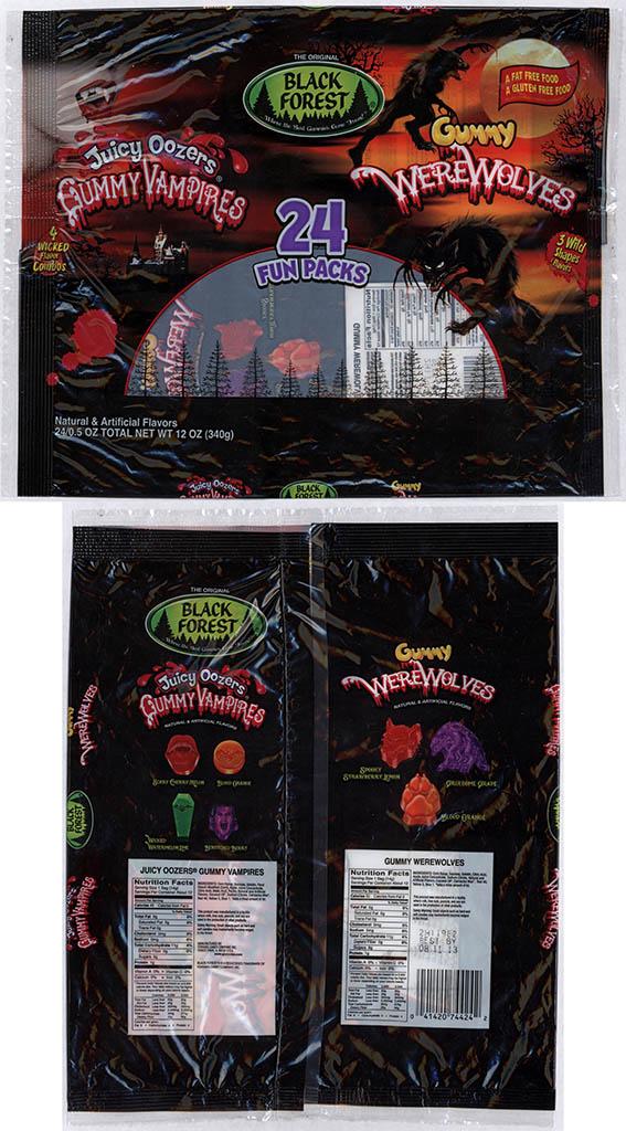 Black Forest - Gummy Werewolves & Juicy Oozers Gummy Vampires - 24-pack multi-bag - 2012