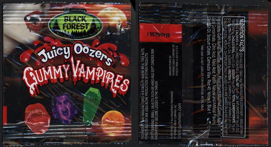 Black Forest - Juicy Oozers Gummy Vampires - Halloween Fun-Pack - 2012
