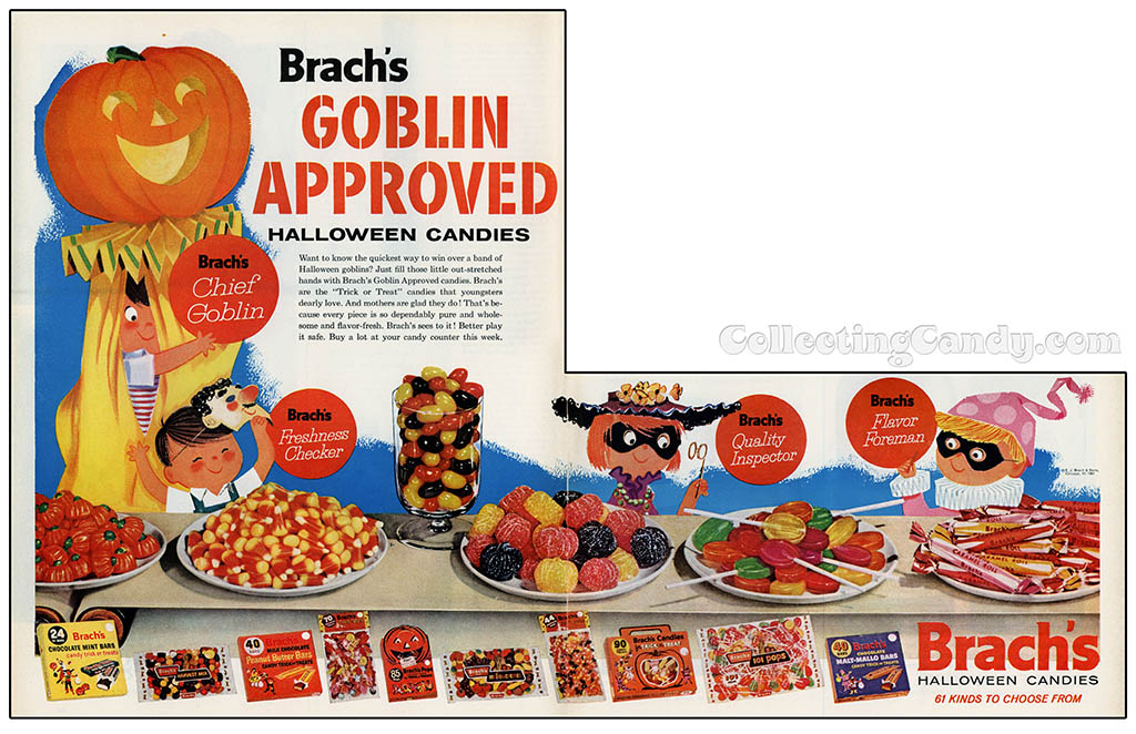 Brachs - Goblin Approved - magazine ad - 1961