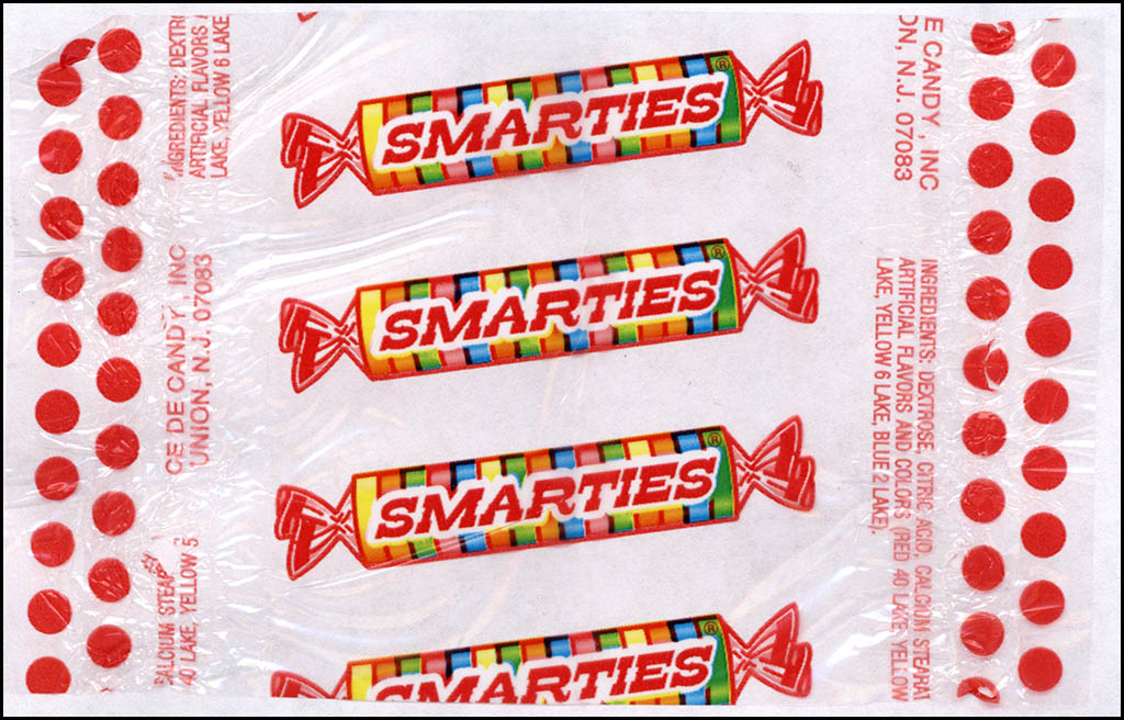Ce De Candy Company - Smarties - cellophane candy roll wrapper - 2013