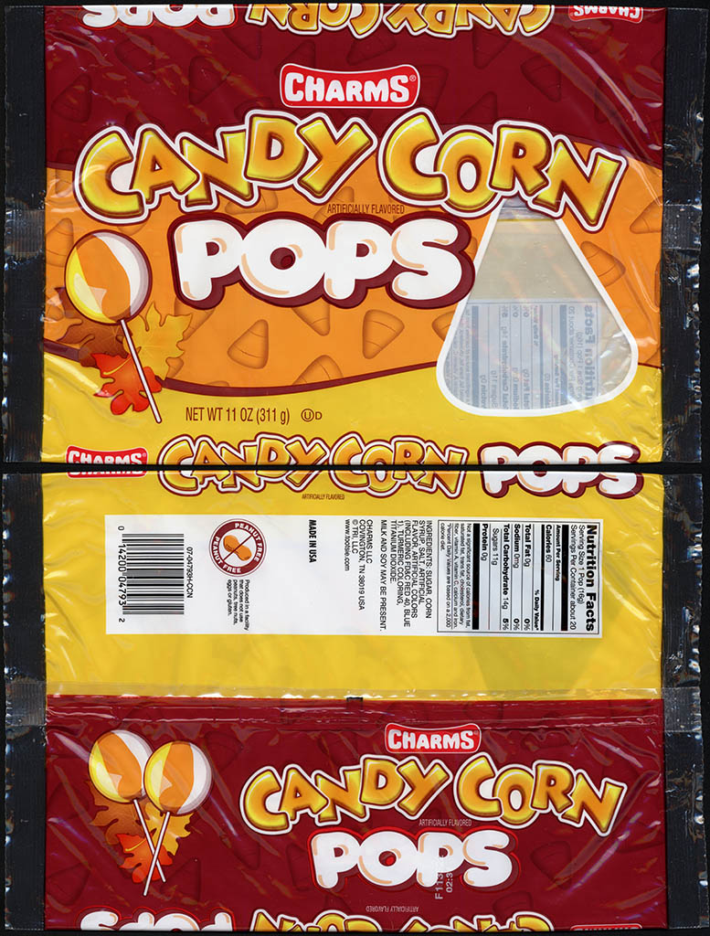 Charms - Candy Corn Pops - 11 oz candy lolipop package - 2013
