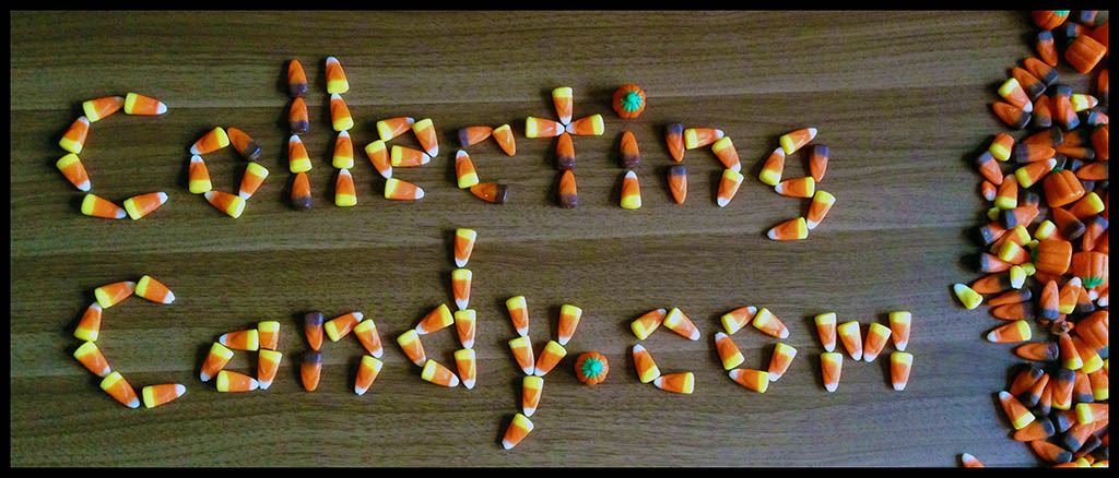 CollectingCandy.com in Candy Corn Lettering