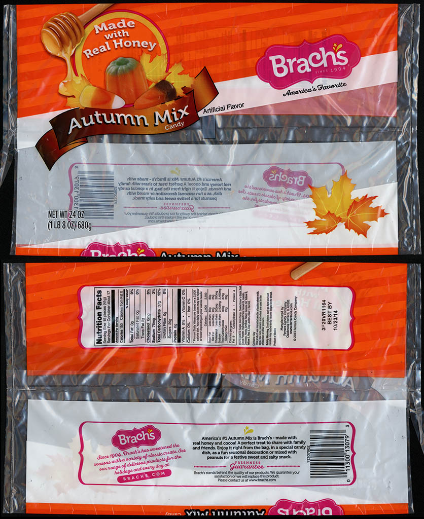 Ferrara Candy Company - Brachs - Autum Mix candy package - 2013