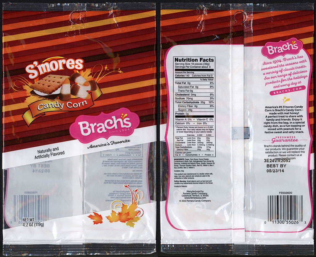 Ferrara Candy Company - Brachs - Candy Corn - S'mores - 4.2 oz candy package - 2013