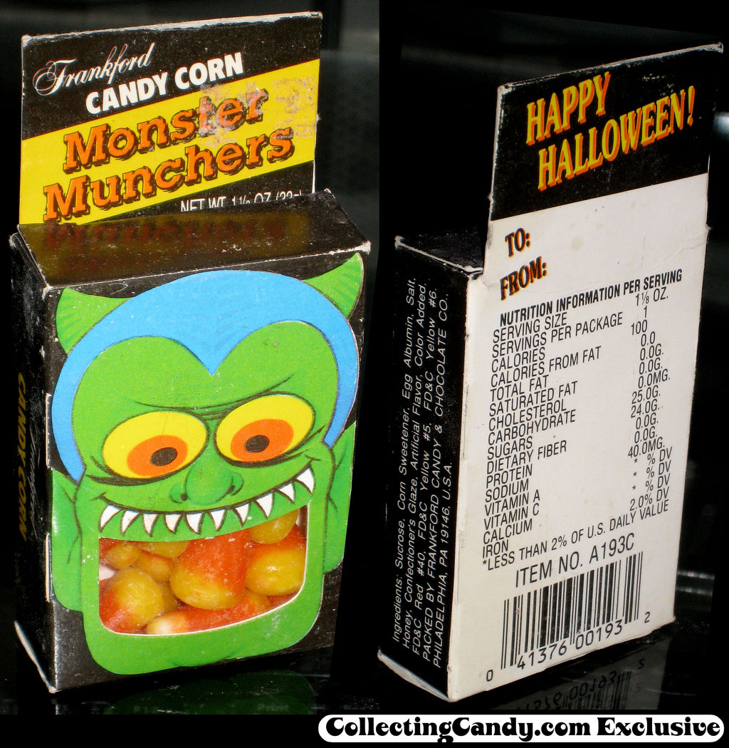 Frankford Candy - Candy Corn Monster Munchers - candy box - late 80's to early 90's