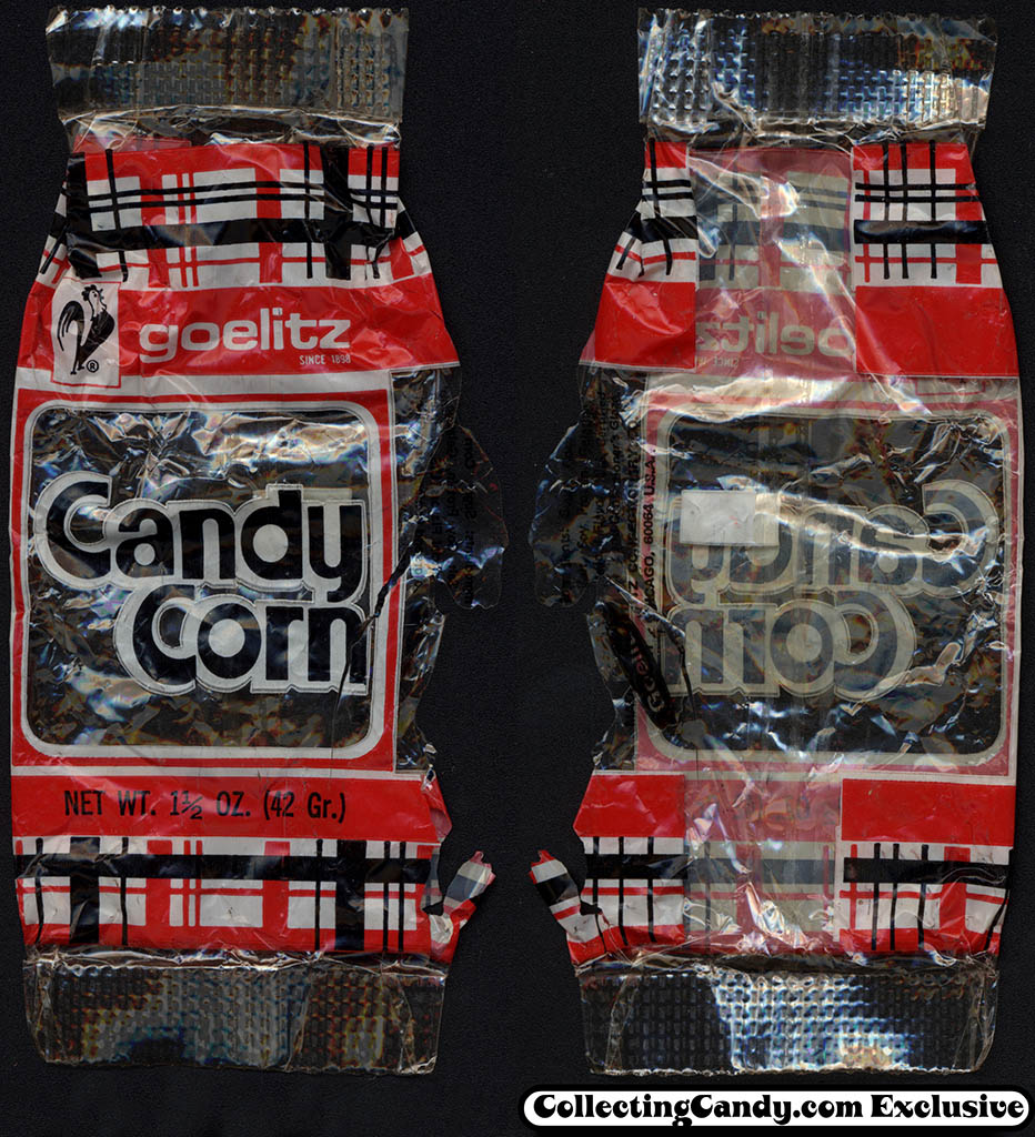 Goelitz - Candy Corn - 1 1/2 oz cellophane candy package - 1970's