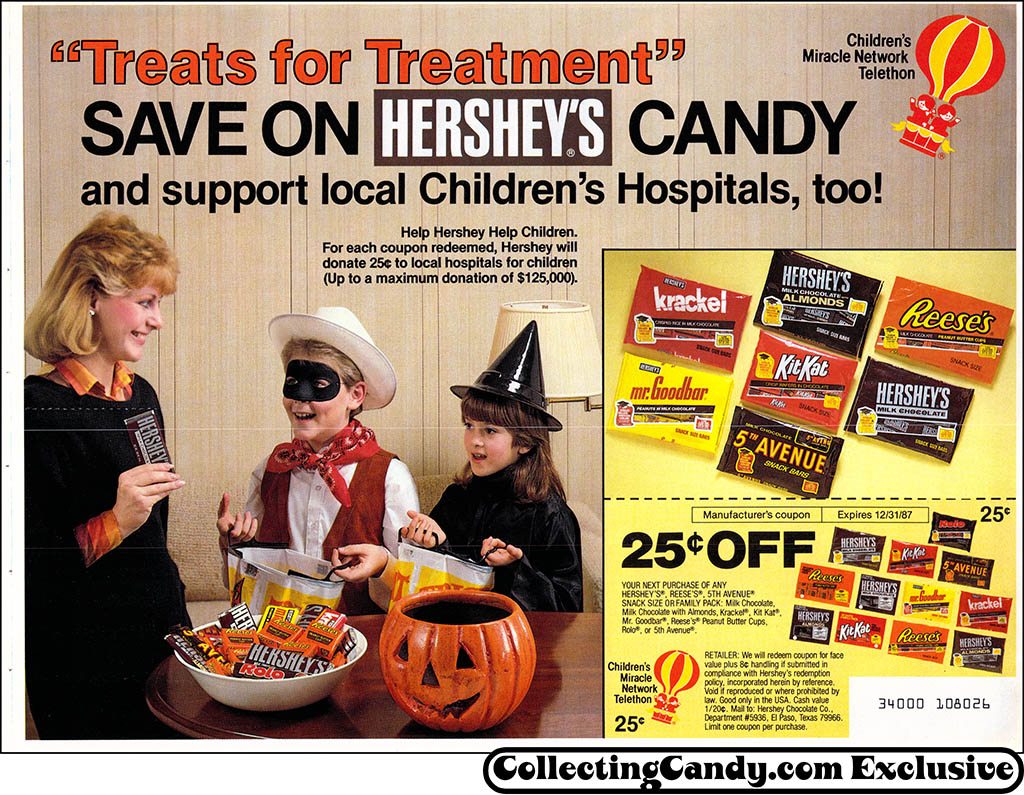 Hershey - Halloween candy newspaper circular coupon - 1987