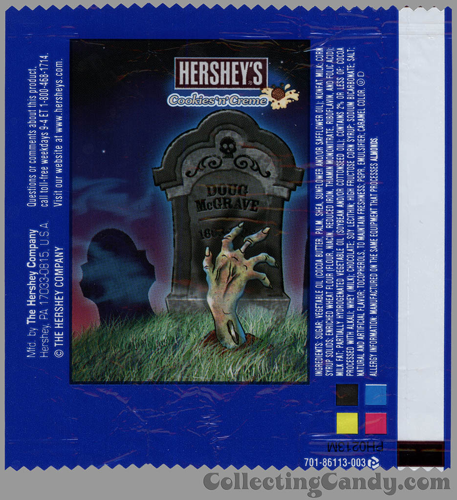 Hershey's - Cookies 'n' Creme - Doug McGrave - Halloween snack size candy wrapper - 2013