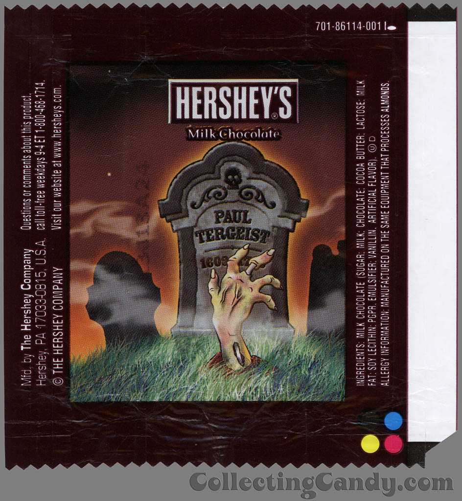 Hershey's - Milk Chocolate - Paul Tergeist - Halloween snack size candy wrapper - 2013