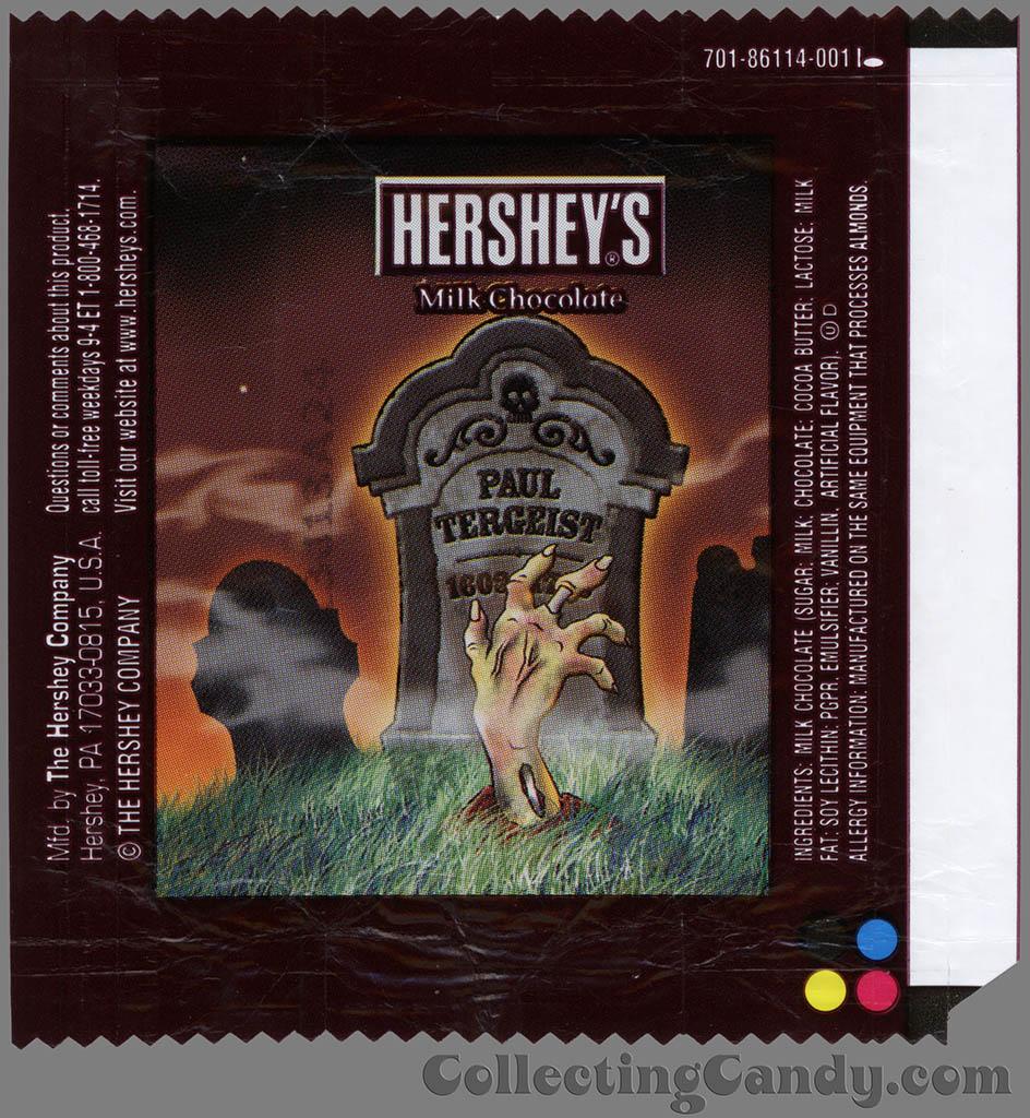 Hershey's - Milk Chocolate - Paul Tergeist - Halloween snack size candy wrapper - 2013