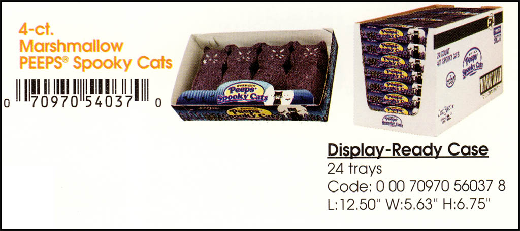 Just Born - Halloween Peeps Spooky Cats catalog image - 2003