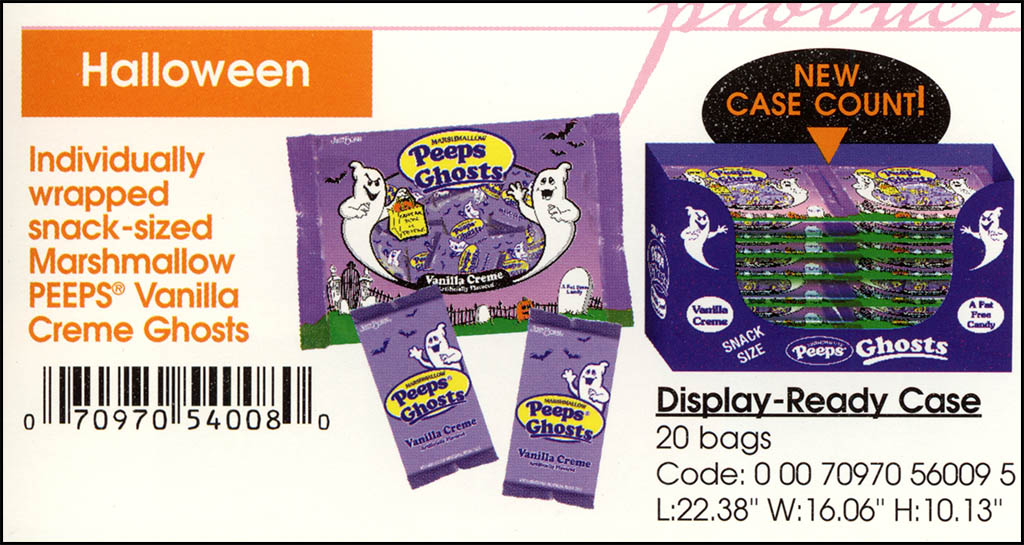 Just Born - Halloween Peeps Vanilla Creme Ghosts catalog image - 2003