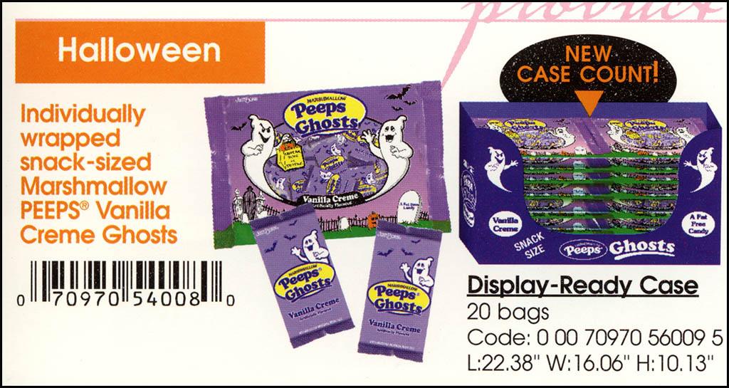 Just Born - Halloween Peeps Vanilla Creme Ghosts catalog image - 2003