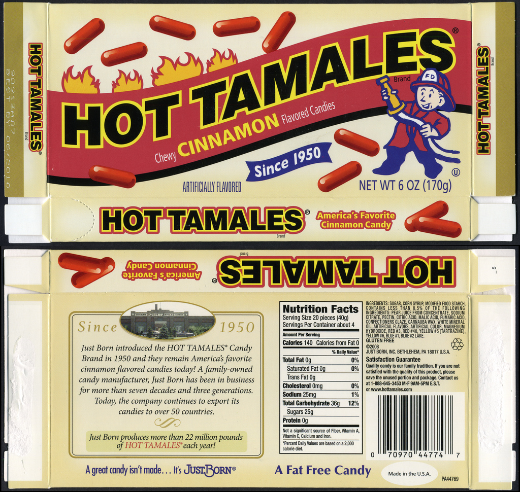 Just Born - Hot Tamales retro box - 2009