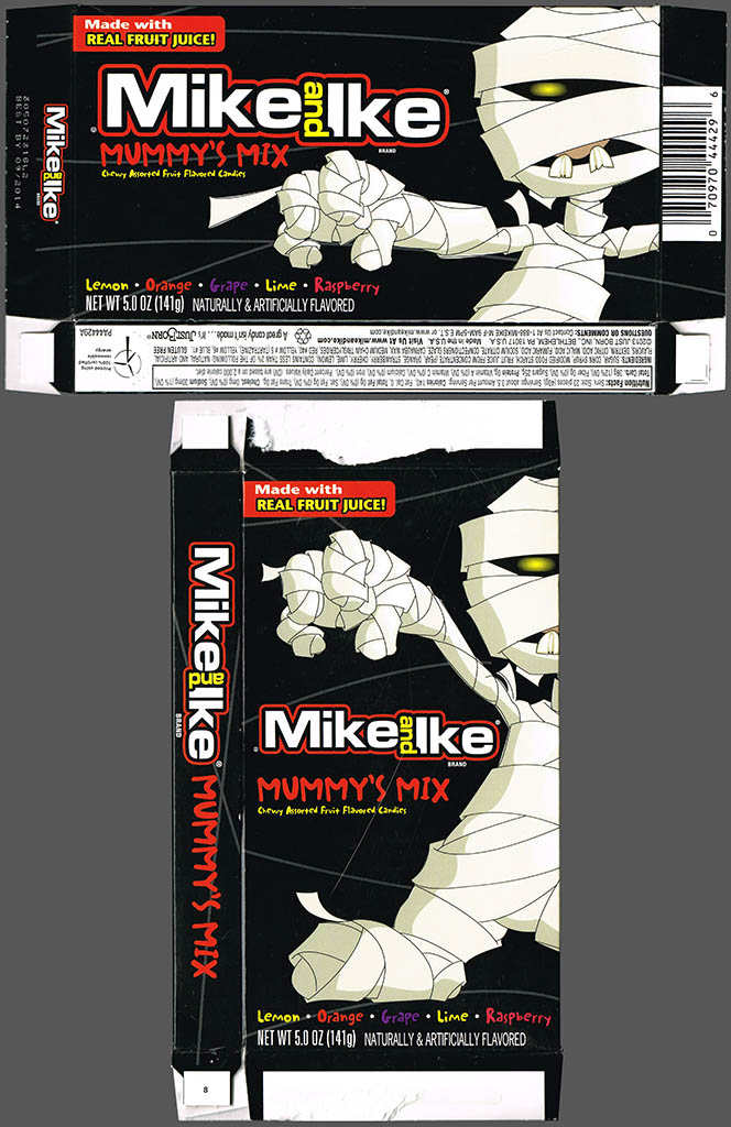 Just Born - Mike and Ike Mummy's Mix - Halloween 5 oz candy box - October 2013
